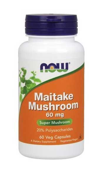 Maitake Mushroom (NOW) 60mg, 60db