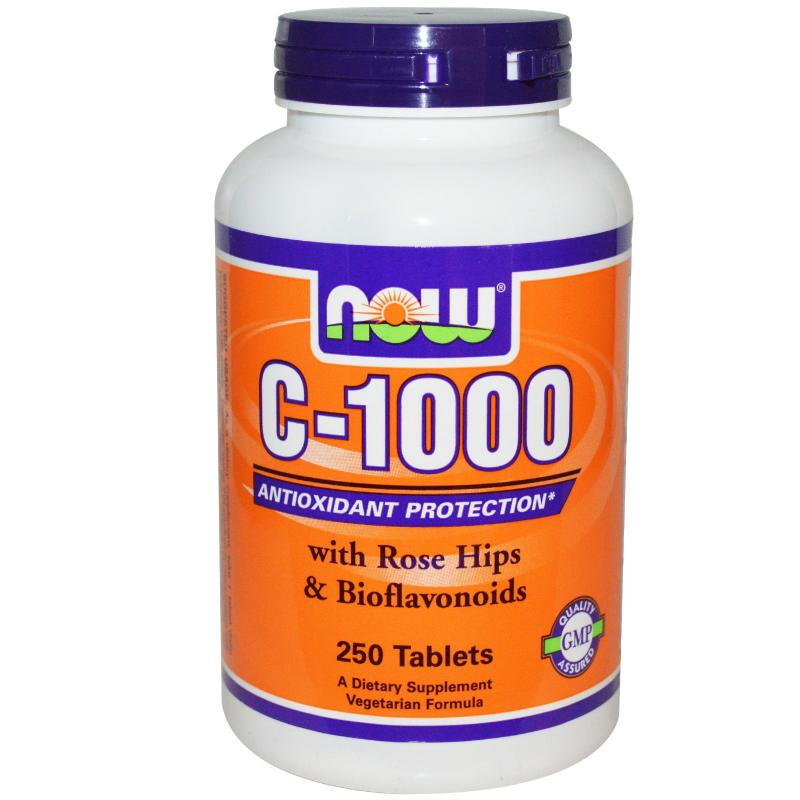 NOW C-1000 vitamin 250db citrus bioflavonoidokkal