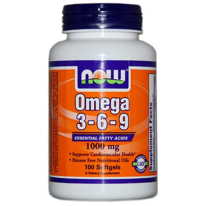 NOW Omega 3-6-9, 100db kapszula