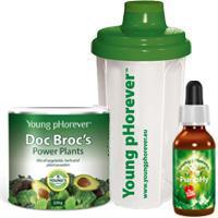 Young pHorever Alapcsomag: Doc Brocs 220 g + PuripHy 60 ml + Shaker